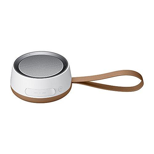 SAMSUNG Scoop de Living Series - Altavoz Bluetooth Resistente a Salpicaduras (batería de 9 Horas de duración, función Llamada, micrófono), Color marrón