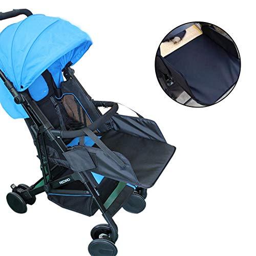 Reposapiés Universal para Cochecito de bebé Pedal de Soporte para pies Sombrilla de bebé para bebé Accesorios para automóvil Longitud extendida del Asiento 35 Ancho 35