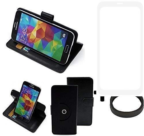 K-S-Trade® Case Schutz Hülle Für -Vestel V3 5580 Dual-SIM- + Bumper Handyhülle Flipcase Smartphone Cover Handy Schutz Tasche Walletcase Schwarz (1x)