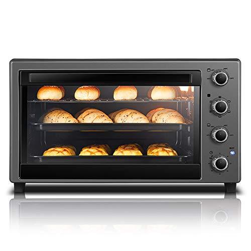 QWEASD Horno para Pizza De Cocina, Horno De Cocción Multifunción, Sartén Sin Aceite, Pantalla Inteligente,Función De Apagado Automático, Control De Temperatura Preciso, Rotación De 360 °,60l