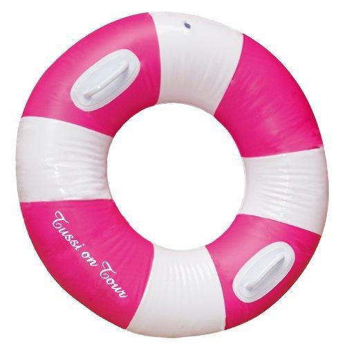 Tussi on Tour Bague avec bouée de natation Rose/blanc eau Pneu Jeu Beach Bague