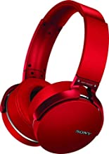 Sony XB950B1 Extra Bass Wireless Headphones with App Control, Red