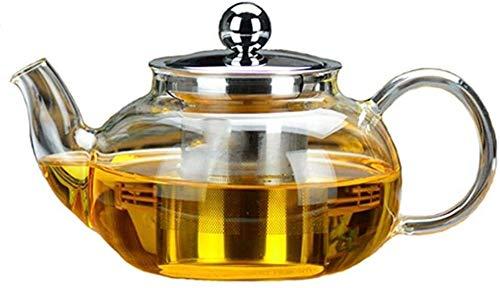 Tetera Cocina Cocina Transparente de Acero Inoxidable Infusor para té y café Gran Capacidad 500ml para Oficina en casa al Aire Libre 8.5x10cm XMJ