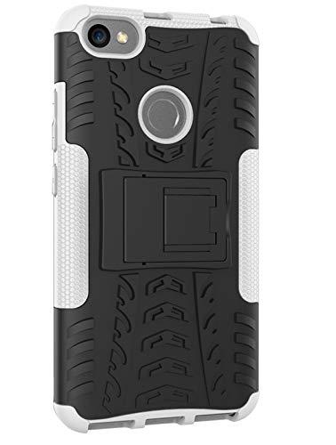 Tianqin Funda Xiaomi Redmi Note 5A, Ultra Delgado Anti Caída Protección Dual Layer Bumper 2 in1 Híbrida Rugged Case Antideslizante Soporte Cover para Xiaomi Redmi Note 5A - Blanco