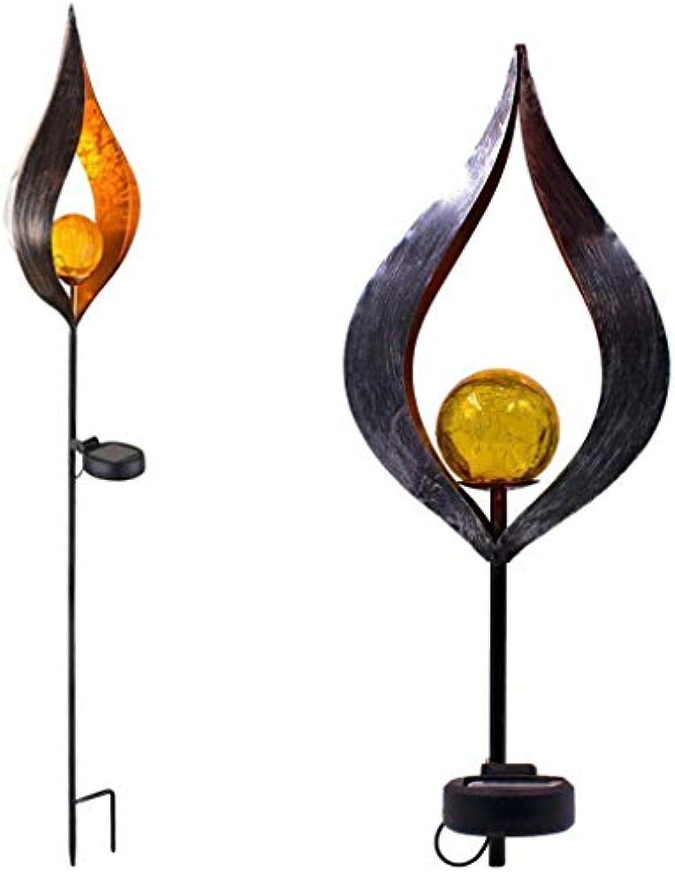WIVION Garten Solarleuchten im Freien, Solarleuchte Garten Garten-Fackeln Solar Gartenleuchte Solarlampe Gartenfackeln mit realistischen Flammen und Wandbefestigung IP44 wasserdicht(2 Stück),3