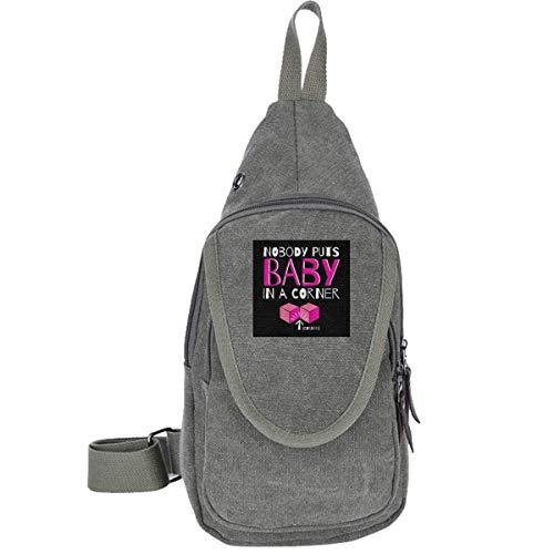 Nobody Puts Baby In The Corner Dirty Dancing Traveling Chest Bags Multipurpose Casual Daypack Hiking Shoulder Bag