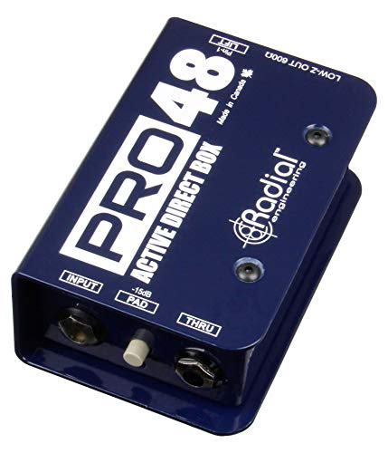 2 of the best budget di boxes for bass and guitar - Radial Pro48 Active 48-Volt Compact Direct Box