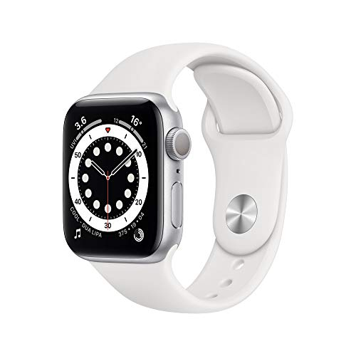 New AppleWatch Series 6 (GPS, 40mm) - Silver Aluminium Case with White Sport Band