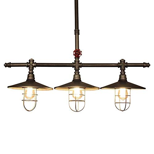 Lámpara de luz retro lámpara de tubo de agua europea y americana vapor punk pipa de agua araña restaurante bar cafetería lámpara de techo industrial hierro creativo lámpara decorativa Ligh