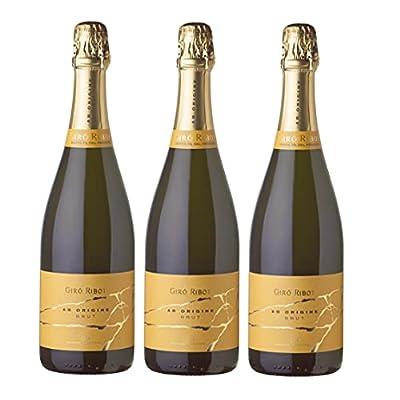 GIRÓ RIBOT AB Origine - Brut Premium Spanish Sparkling Cava Wine, 3 Bottles