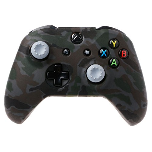 X_b_o_x Controller Skins,Cover Gamepad Silicone for X_b_o_x One S and X_b_o_x One X + 2 Joystick Caps For X-Box- One X S Controller