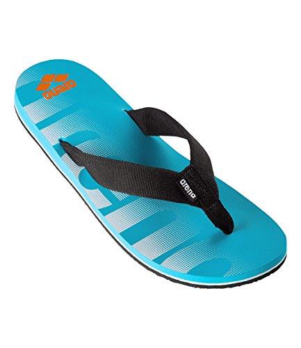 ARENA Herren Zehentrenner Badeschuhe Poolsandalen Tarifa, Farbe:Blau, Schuhgröße:EUR 44, Artikel:-70 Turquoise