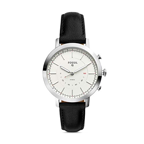 Fossil Hybrid Smartwatch - Q Neely con Correa de Cuero Negra para Hombre FTW5008