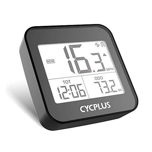 CYCPLUS GPSサイクルコンピュータ ワイヤレス 自転車用速度計 自転車スピードメーター 走行距離メーター 防水 (ブラック)