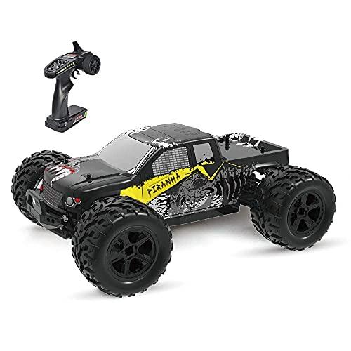 1/12 Escala Off-road Control remoto Coche de juguete Impermeable 4WD Vehículo RC de alta velocidad 2.4G Radio Drift RC Buggy Resistente a golpes y caídas Monster RC Truck Regalos para niños, batería