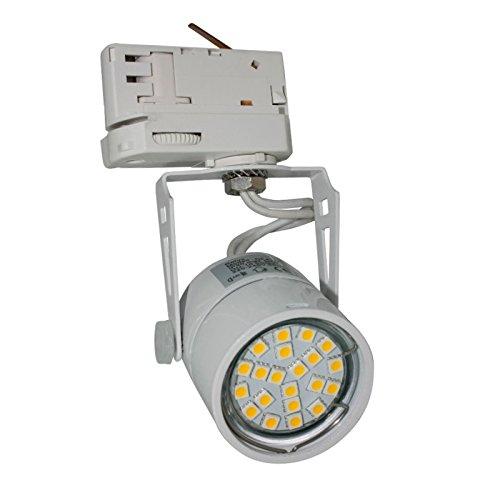 WITTKOWARE 3-Phasen LED-Strahlerspot, dimmbar, 230V/6W, 2700K (warmweiß), 450lm, 36°, weiß, rund