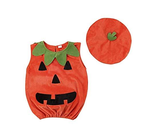 CIPOPO Halloween Kostüm Kleinkind Baby Unisex Kürbis Faschingskostüme Cosplay Halloween-Kürbis-Kostüm Jumpsuits Kleidung für die Halloween-Kostüm-Partei(1-5T) (KürbisA, 2-3 Years)