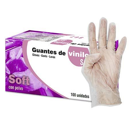 Talla M Guantes de latex con polvo caja de 100U