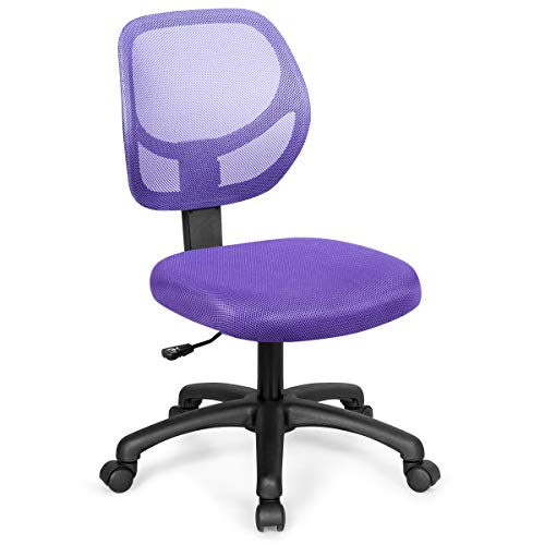 Giantex Low-Back Computer Desk Chair, Swivel Armless Mesh...