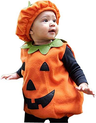 Geagodelia - Disfraz de calabaza de Halloween para bebé y niño Naranja A. 0-6 Meses