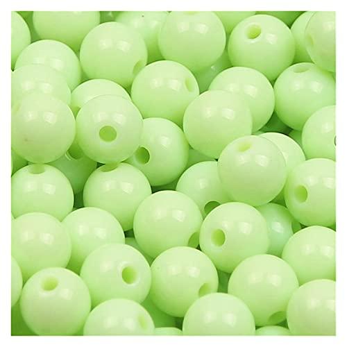 BOSAIYA SL DIY 6/8/10/1 Perlas acrílicas Redondas de Color de Caramelo de 2mm para la joyería Que Hace un Collar Hecho a Mano Pulsera T823 (Color : Color 5, Item Diameter : 10mm 50pcs)