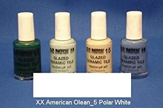 EZ Products EZP-929 Glazed Ceramic Tile Touch-UP 15-XX American Olean No. 5 Polar White