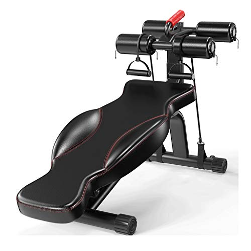 Halterbank Halter Kruk Sit Up Buikspierbank Board abdominale sporter Uitrustingen Gym Multi-functie Training Spieren Fitnessapparatuur voor thuis Halterbank (Color : Black)