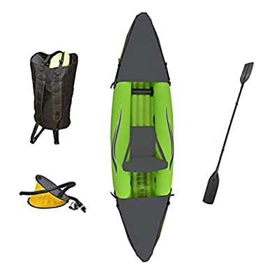 Outdoor Tuff Stinger 3 OTF-2751PK Inflatable One-Person Sport Kayak with Rotatable Paddle, 275-Pound Capacity