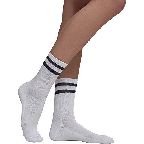 Urban Classics Herren 2-Stripe Socken, 2er Pack, Mehrfarbig (White/Black), 43-46