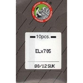 Organ Nadeln # 80//12/ELX 705/Overlock-Maschine X 5/Nadeln