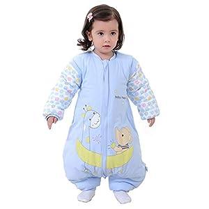 Dowoa Saco de Dormir para bebé Otoño Invierno Algodón Engrosado Recién Nacido Manga Larga Cálido Saco de Dormir de…