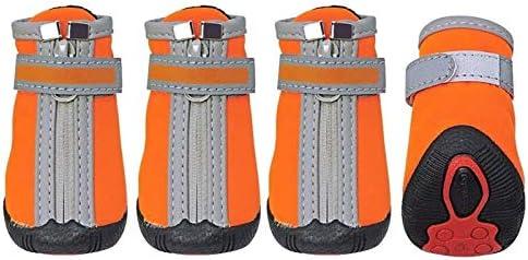 Beapet Botas para Perros Zapatos de Perro de Invierno Pequeños Perros Grandes Zapatos Calcetines Impermeables Reflectores Botas de Perro Paw Protector Niñera Nieve Botines para Mascotas