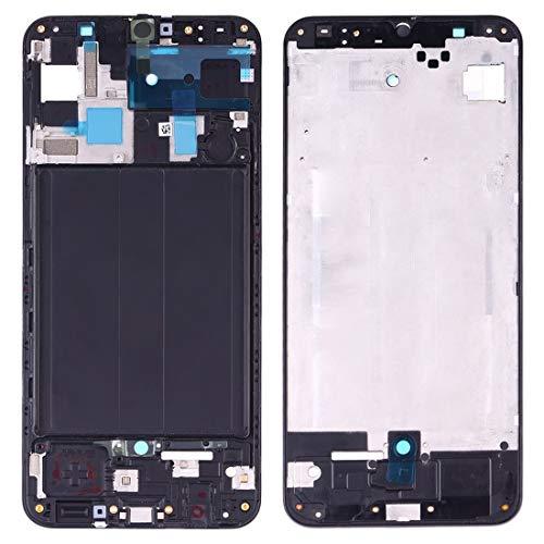 Sevenplusone Juego de Repuesto para Samsung Galaxy Reemplazo Carcasa Frontal Placa de Marco de Bisel LCD for Galaxy A50 SM-A505F / DS, A505FN / DS, A505GN / DS, A505FM / DS, A505YN (Negro) Juego de