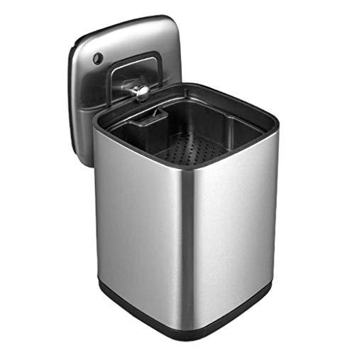 Vuilnisemmer filter teerresten thee dubbele thee emmer metaal vierkant met deksel sanitair gerecycled container huishoudelijk afval voorraadcontainer (kleur: A grootte: 24 2 * 33 8 cm)