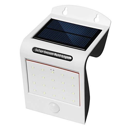 Qiraoxy 2 unids luz solar al aire libre impermeable sensor de movimiento solar luz de pared para jardín patio patio al aire libre jardín patio impermeable lámpara de pared decoración paisaje