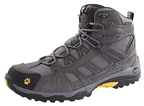 Jack Wolfskin Vojo Hike Mid Texapore Men Wasserdicht, Herren Trekking- & Wanderstiefel, Grau (Burly Yellow 3800), 44.5 EU
