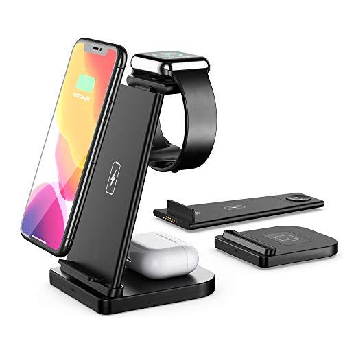 Wisam® 3 in 1 Multifunktion 15W QI Ladestation für Airpods Pro Apple Watch iPhone 12
