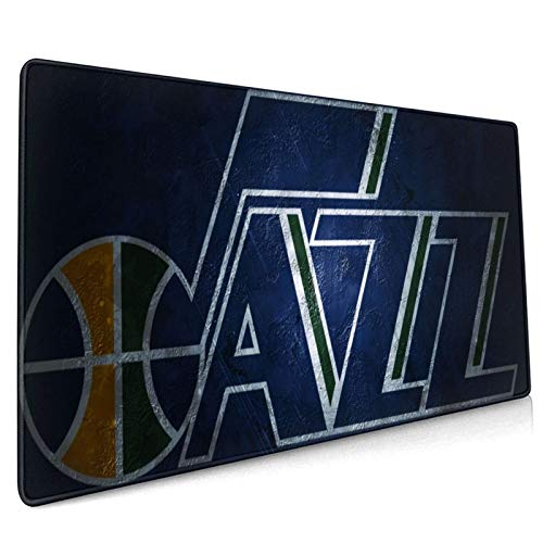 WEIQIQQ Jazz_Basketball Sports_Utah XXXL Large Gaming Mouse Pad for Desk, Waterproof Office Mousepads Non-Slip Rubber Base with Stitched Edges for Home Games, Laptop Mat 18.5x35.5 Inch