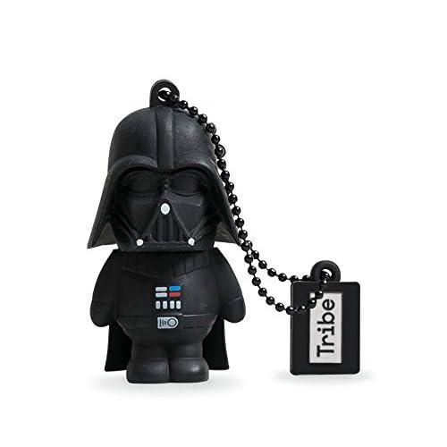 Chiavetta USB da 16GB Darth Vader Star Wars by TRIBE | Pendrive di Memoria USB Flash Drive 2.0 Memory Stick per Archiviazione Dati - Figurina 3D Idea Regalo Originale e Gadget da Collezione - Colore Nero