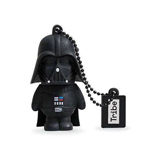 Tribe Disney Star Wars Darth Vader USB Stick 16GB Speicherstick 2.0 High Speed Pendrive Memory Stick Flash Drive, Lustige Geschenke 3D Figur, USB Gadget aus Hart-PVC mit Schlüsselanhänger – Schwarz