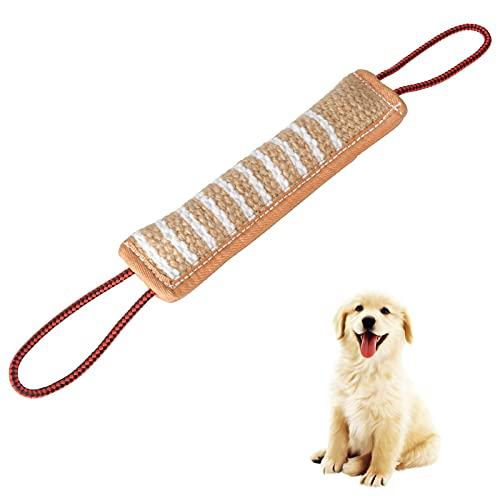 AIBAOBAO Cane Tug Toy Cane addestramento morso cuscino Juta morso giocattolo, Migliore per il tiro alla fune, gioco interattivo per l\'addestramento dei cuccioli, interattivi per cani medi e grandi
