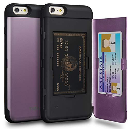 TORU CX Pro Funda iPhone 6S Plus Carcasa Cartera Morado con Tarjetero Oculto y Espejo para Apple iPhone 6S Plus/iPhone 6 Plus - Lavanda