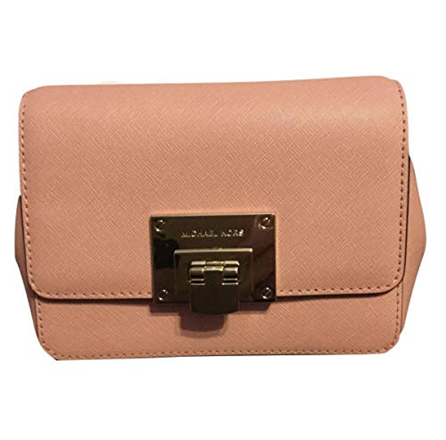 """Saffiano leather Gold-tone hardware Foldlock flap closure Interior features: 1 slip pocket and 3 Credit card slots Approximate measurement 6.75"""" L x 4.75"""" H x 2.25"""" D Adjustable and removable crossbody strap with drop length of 22"""""""