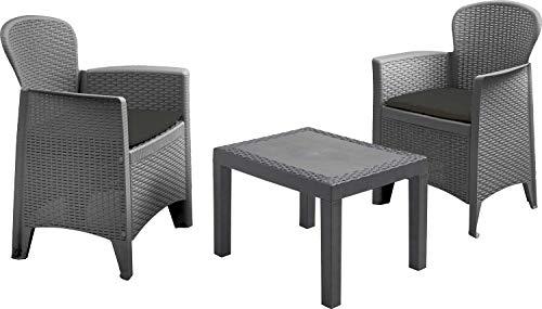 made2trade 5 teiliges modernes Designer Gartenmöbel Set für den Sommer inkl. Auflage/Sitzkissen
