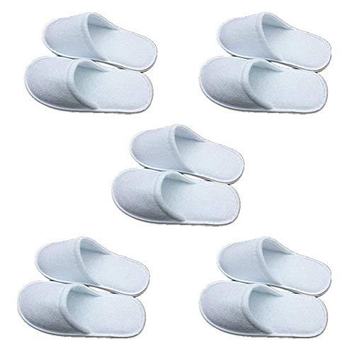ciabatte per ospiti HG0006 x 10 10 paia di pantofole in spugna bianche da hotel a punta aperta usa e getta