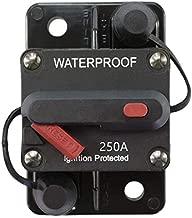 STETION 250 Amp Circuit Breaker Trolling with Manual Reset Car Marine Trolling Motors Boat ATV Manual Power Protect for Audio System Fuse 12V-48VDC Waterproof (250Amp) …