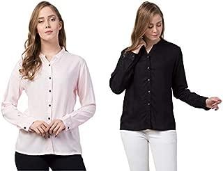 dibiya Comfortable Formal Snow Shirt Pack of 2 Combo