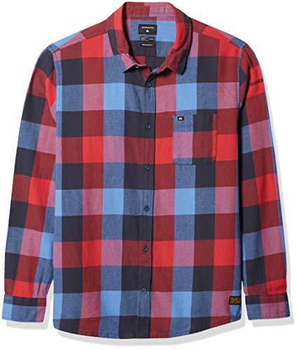 Quiksilver Herren Flannel Hemd, Pariser Nacht Motherfly, Klein