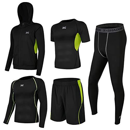 (シーヤ) Seeya コンプレッションウェア セット スポーツウェア メンズ 長袖 半袖 冬 上下 5点セット ...