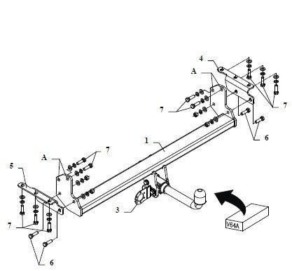 MCLP Detachable Towbar with Electric Kit 7Pin for NISSAN NAVARA 2005-2015 D40